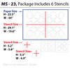 Reusable moroccan  wall stencil design, MS-23