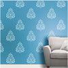 Traditional Old motif Wall Painting Ideas, Motif Wall Painting Ideas. Motif Stencil Designs, MWS-14