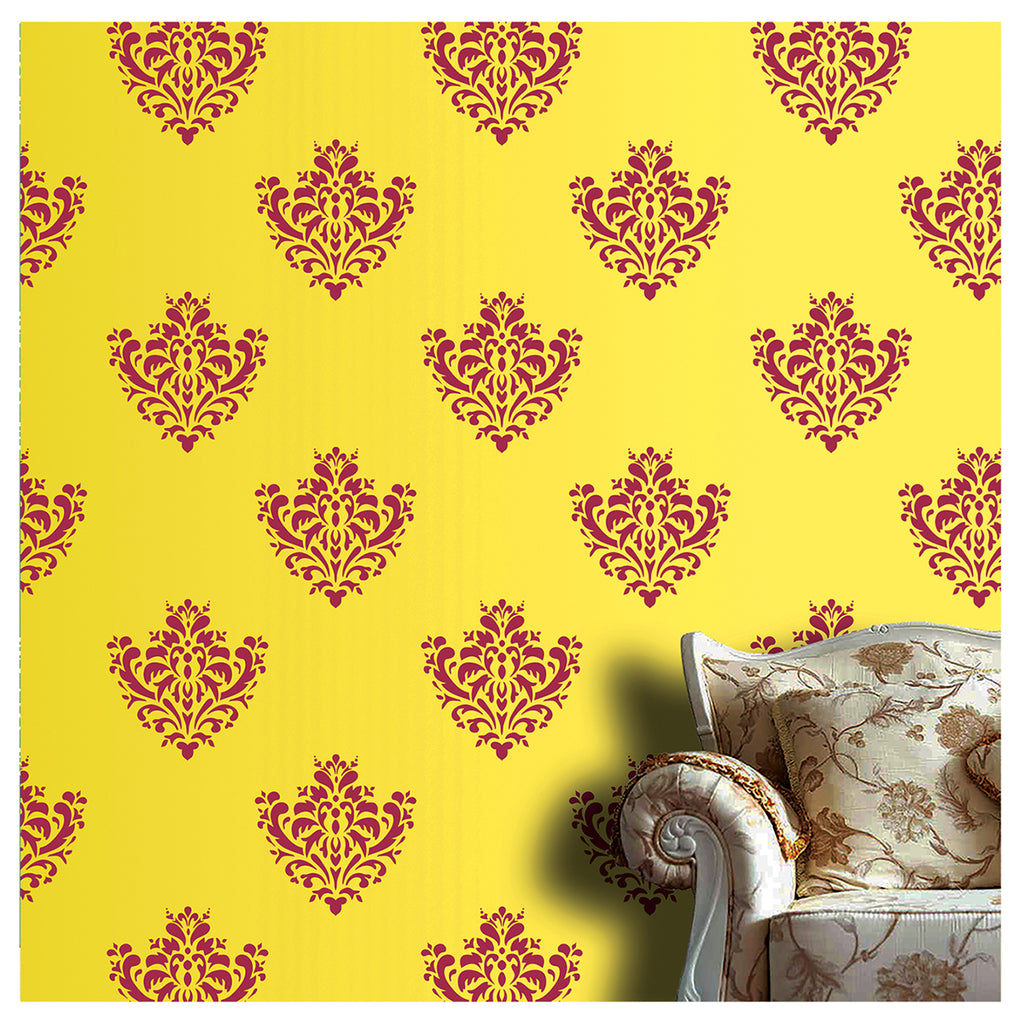 Traditional Motif Wall Painting Ideas, Motif Stencil for wall Painting, MWS-15