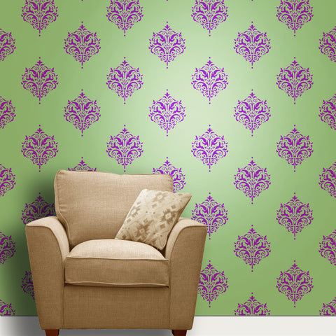 Beautiful Living room wall Painting motif Stencil, Motif Reusable Painting Stencils,Motif Stencil, MWS-45