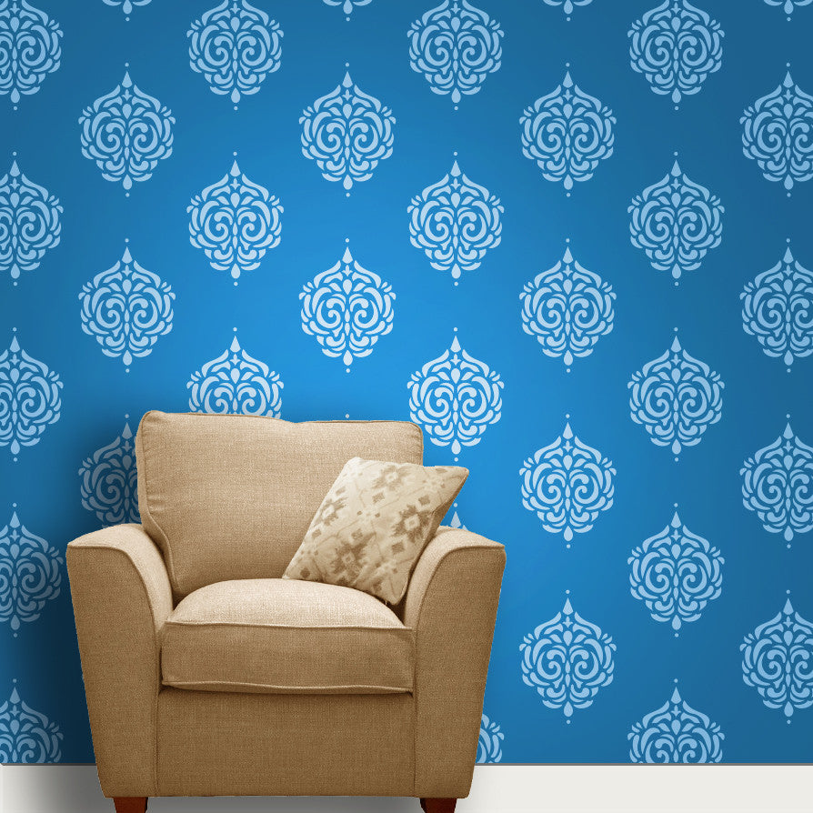 Indian wall stencils gallery home wall decoration ideas online shopping india shop online for wall stencils wall indian paisleymotif stencil mws 46 amipublicfo gallery amipublicfo Image collections