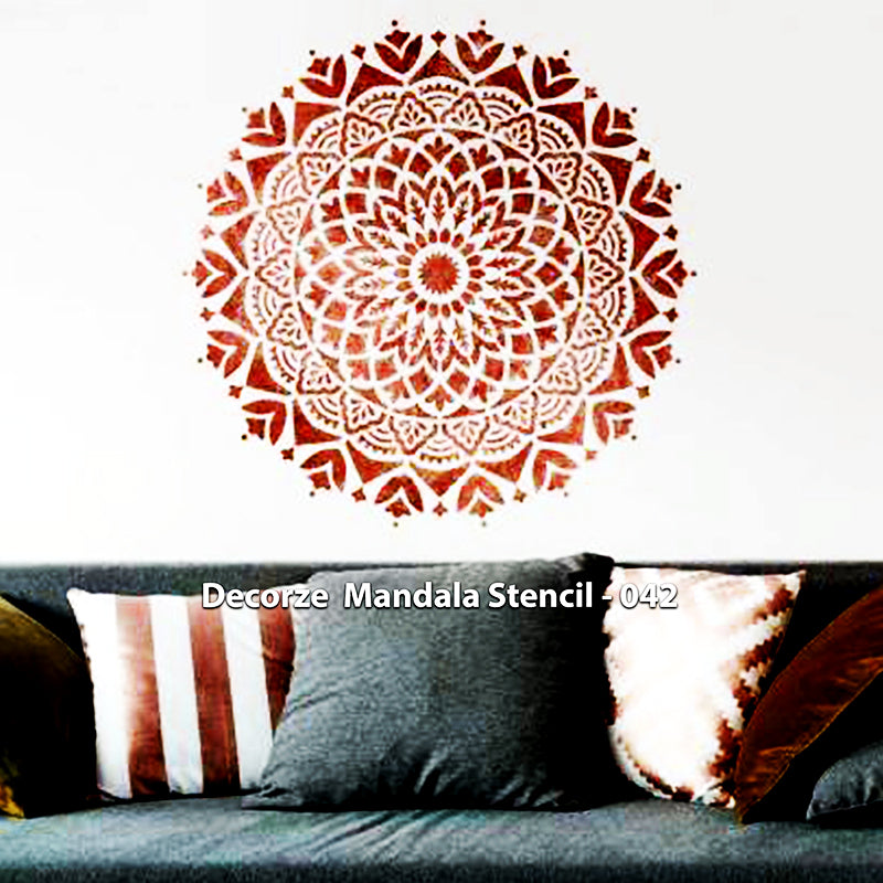 Mandala Art Stencils | Simple Mandala digital art | Decorze Mandala Stencils 042