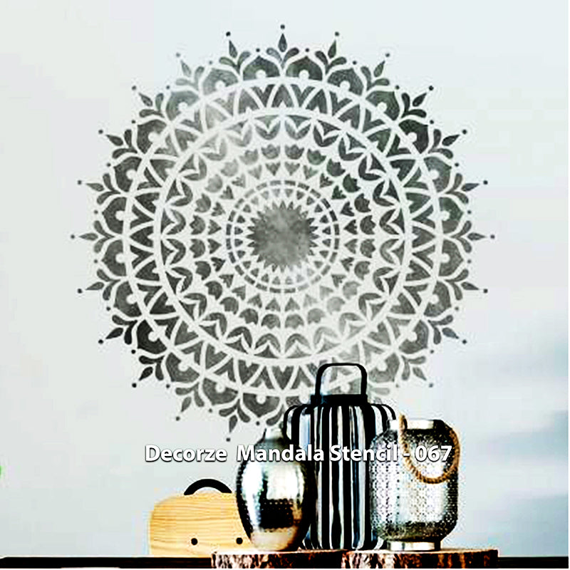 Mandala Art Stencil | simple Mandala Art | Decorze Mandala Stencils 067