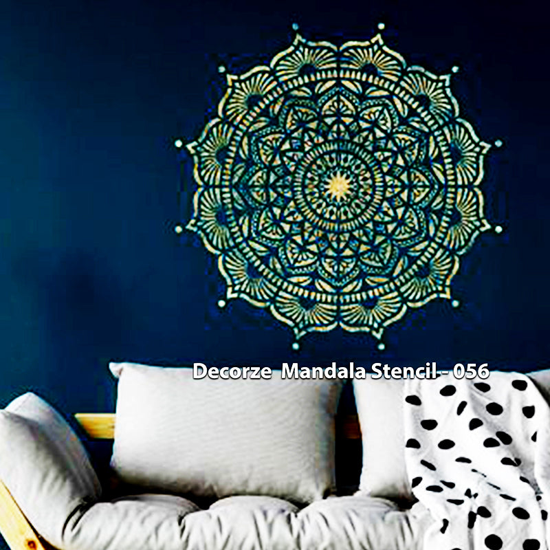 Mandala Art Stencil | Simple Mandala art | Decorze Mandala Stencil 056