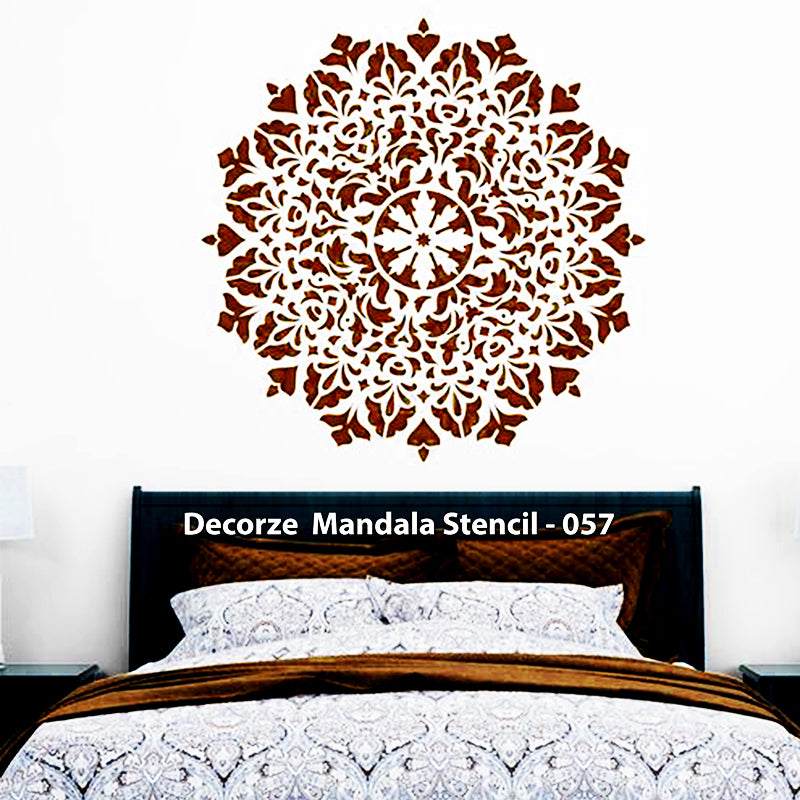 Mandala Art Stencil | Simple wall painting | Decorze Mandala Stencil 057