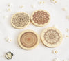 Mandala wooden Coasters set of 4