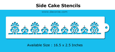 Stencilled cakes and cookies - a gallery of ideas, CDS- 02