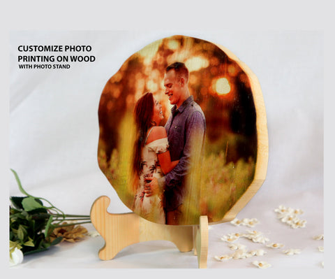 Customize Photo On wood