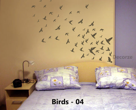 Birds Flying Stencil for walls, Birds-04