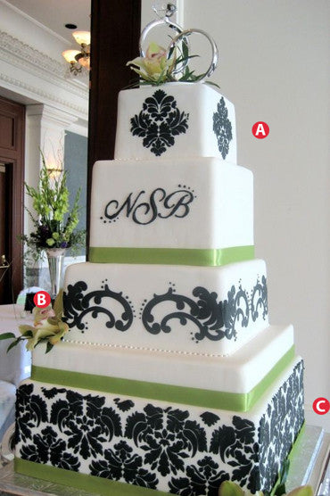 Wedding Cake Decoration Stencil - 06