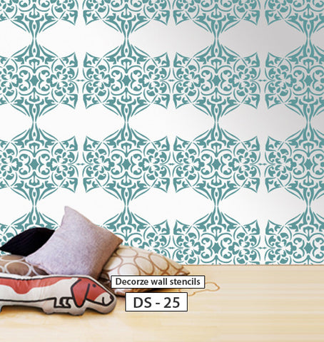Wall stencil for home wall stencil, DIY decor, DS-25