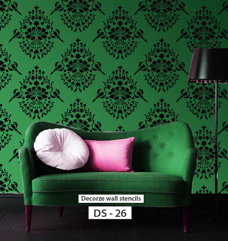 Interior wall decorating ideas for stencil, DS-26