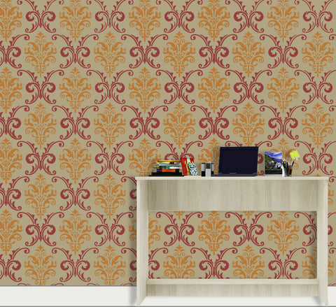 Indian Traditional Custom Damask Stencil, DS-41