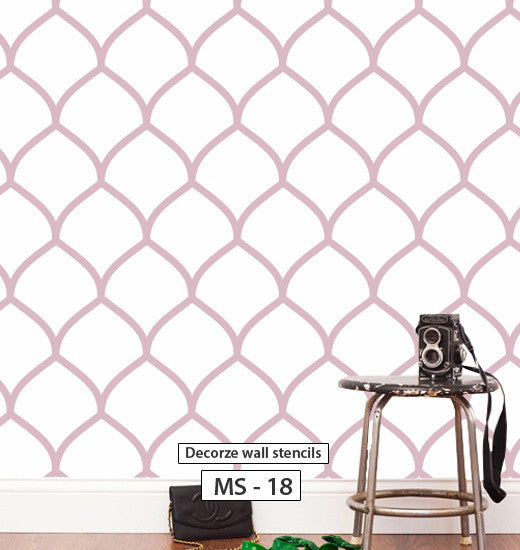 Moroccan stencil pattern for wall, MS-18