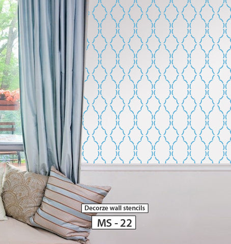 DIY  moroccan wall stencil design, MS-22