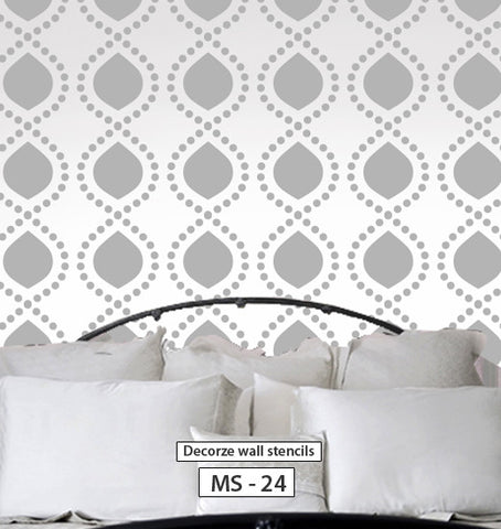 Interior stencil design for wall, MS-24