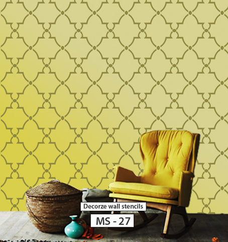 Modern wall stencil design, MS-27
