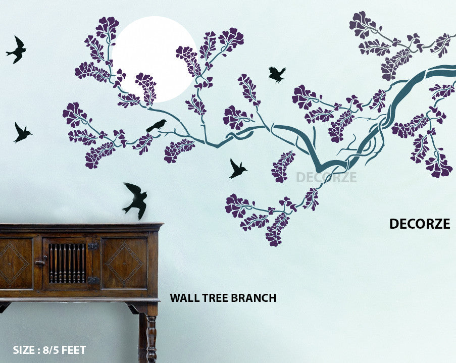 Customize Wall Tree Branch Stencil,TB-26