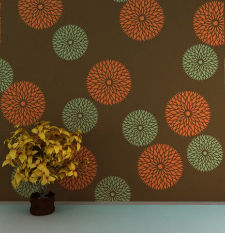 Flower wallpapers for wall painting, FS-04