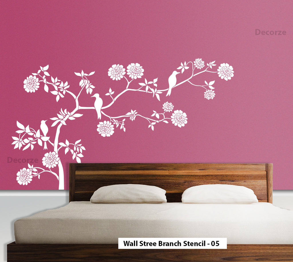 Online shopping india shop online for wall stencils for Stencil wall art