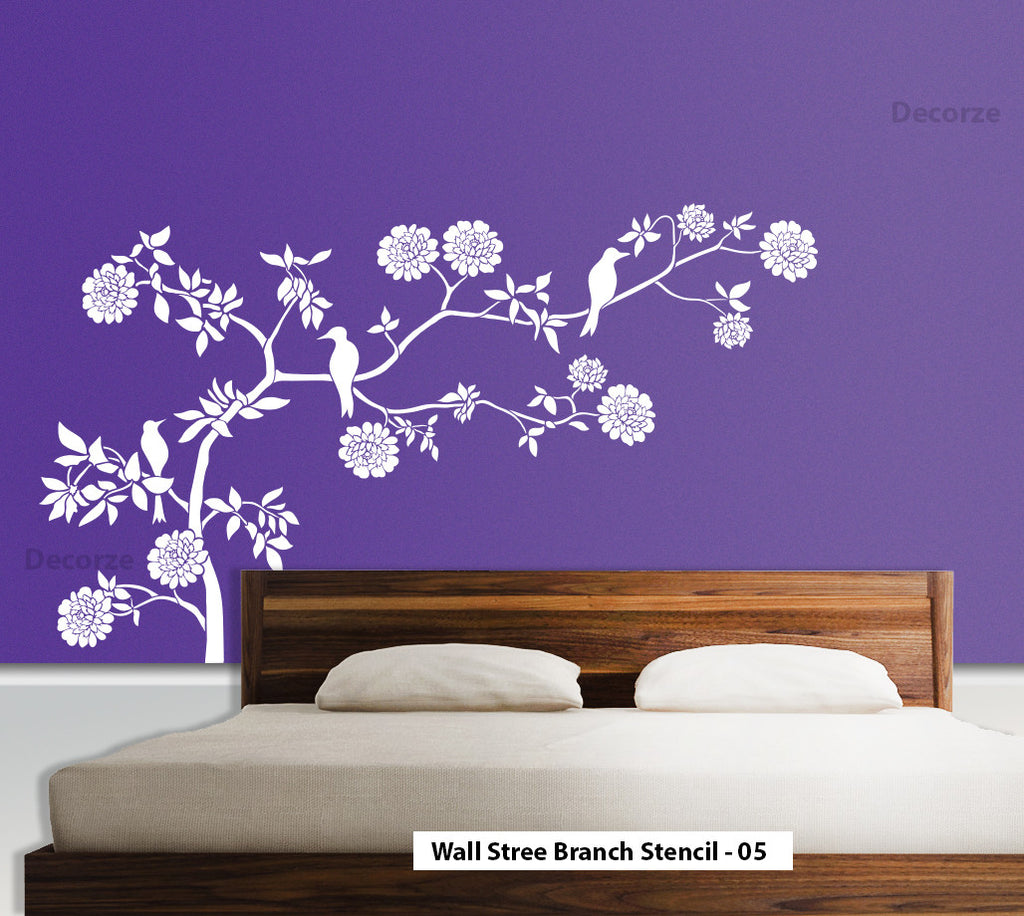 Wall art stencils image collections home wall decoration ideas online shopping india shop online for wall stencils wall nature wall tree branch wall art stencil amipublicfo Gallery
