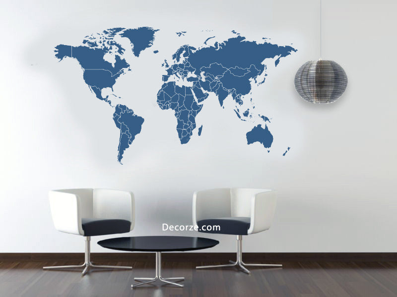 Online shopping india shop online for wall stencils wall painting world map stencil gumiabroncs Gallery