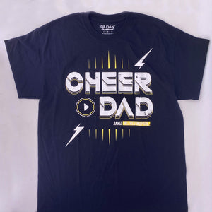 Black Cheer Dad T-Shirt 2019