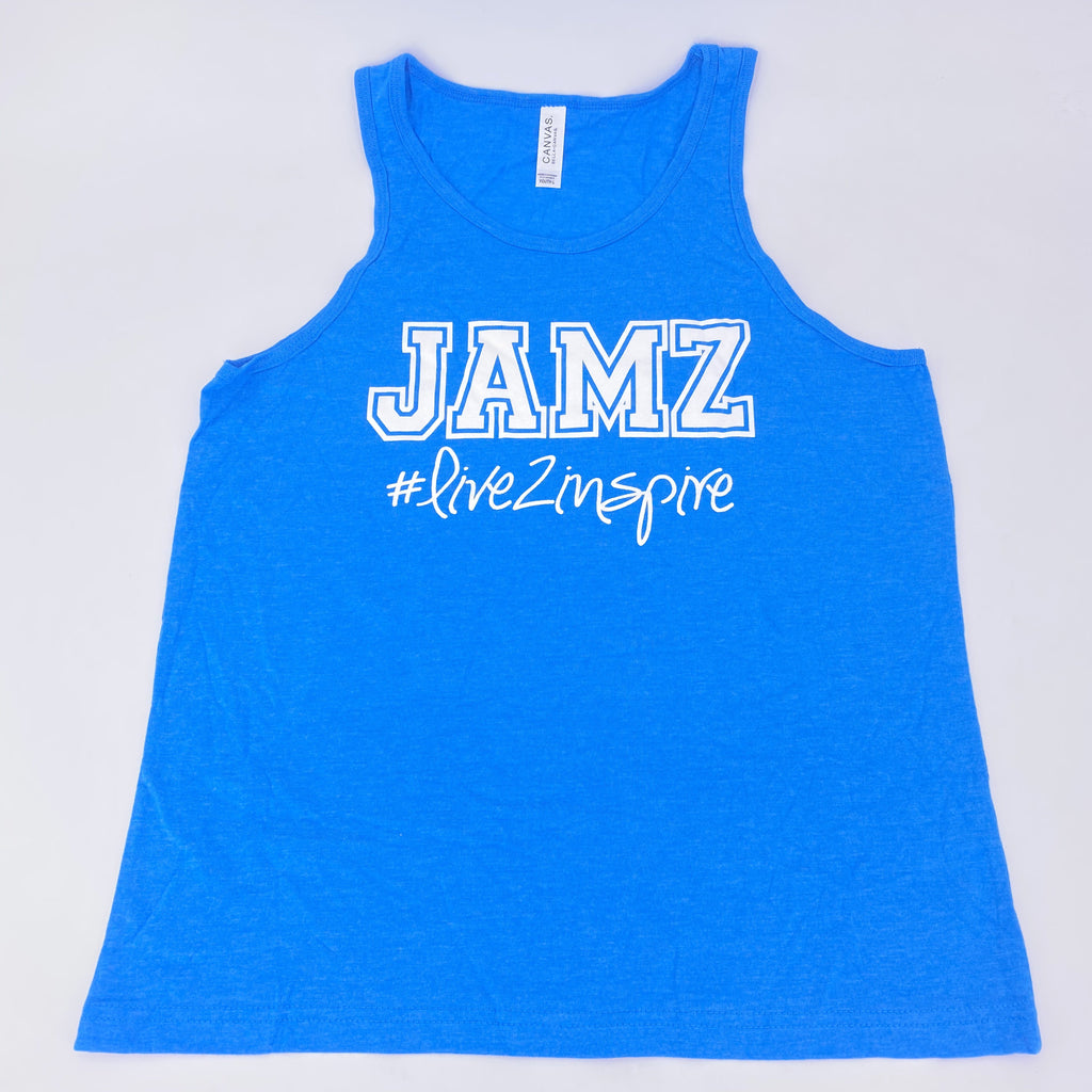 Live2Inspire Neon Blue Tank Top