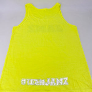 Neon Yellow Unisex Summer Foil Tank Top