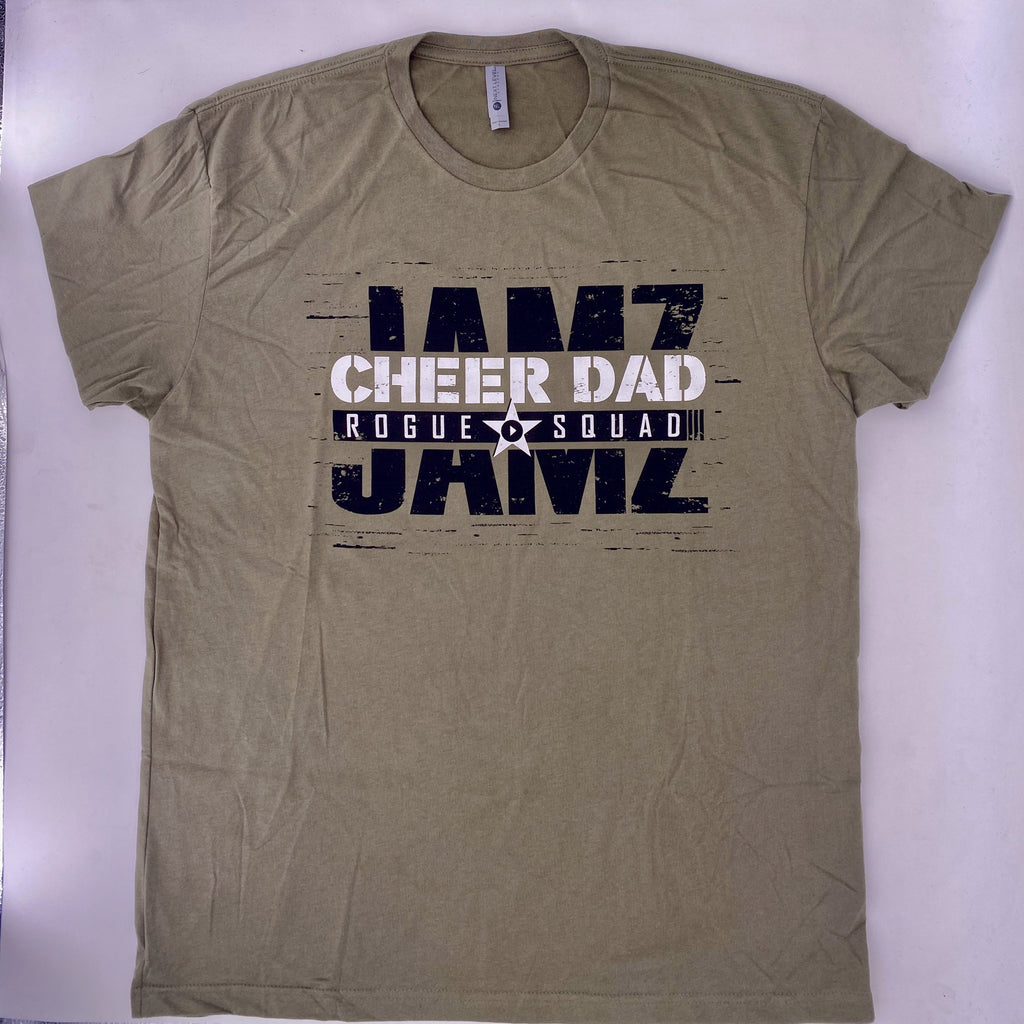 Military Green Cheer Dad T-Shirt 2020