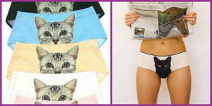 The panties with a cat printed on them: The trend that is all the rage at the moment! Think about it for the holidays....