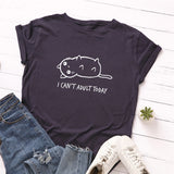 I Can't Adult Today Cat T Shirt - Fashion Cat Design