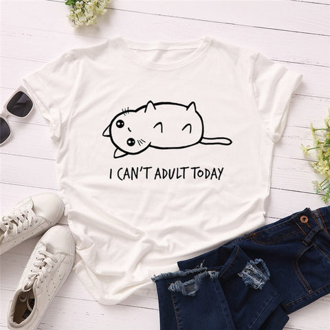 I CAN'T ADULT TODAY - Fashion Cat Design