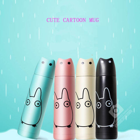 Cute Cat Thermos Flask - Fashion Cat Design