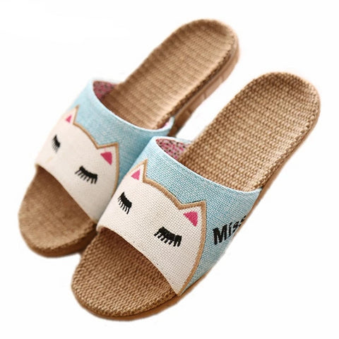 Cat Face Slippers - Fashion Cat Design