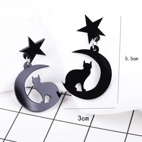 Sailor Moon Star Cat Earrings - Fashion Cat Design