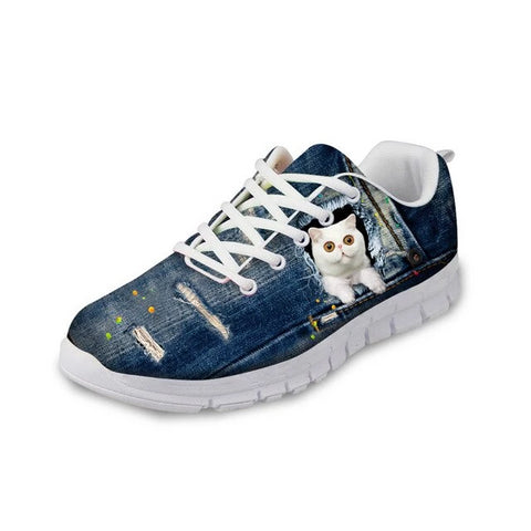 Comfy Cat Sneakers - Fashion Cat Design