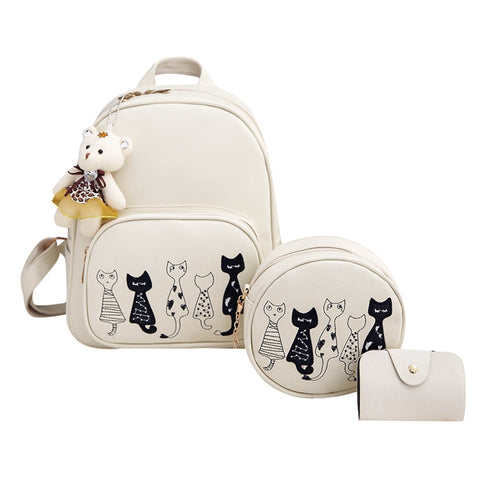 Cat Backpack Set (3pcs) - Fashion Cat Design