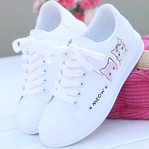 Meow </br> Cat Sneakers - Fashion Cat Design