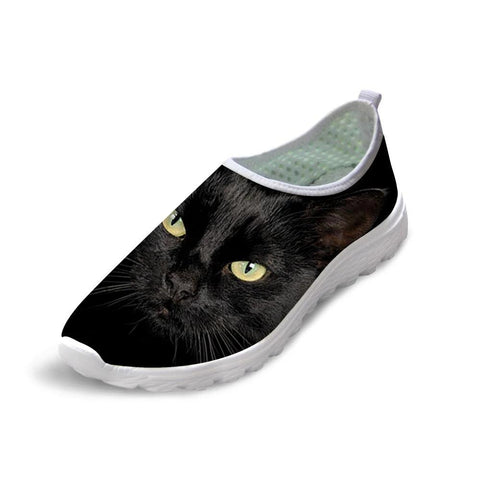 Black Cat Sneakers - Fashion Cat Design