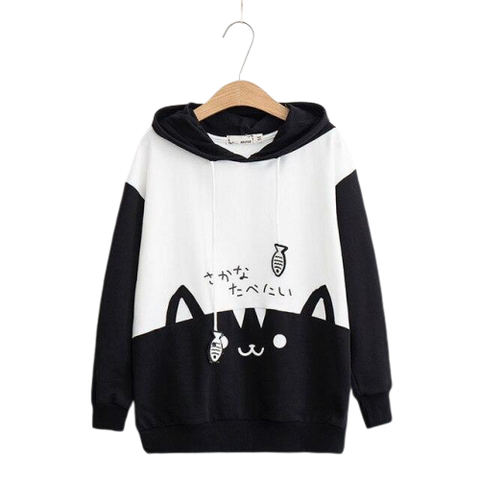 Cat Ear Hoodies - black