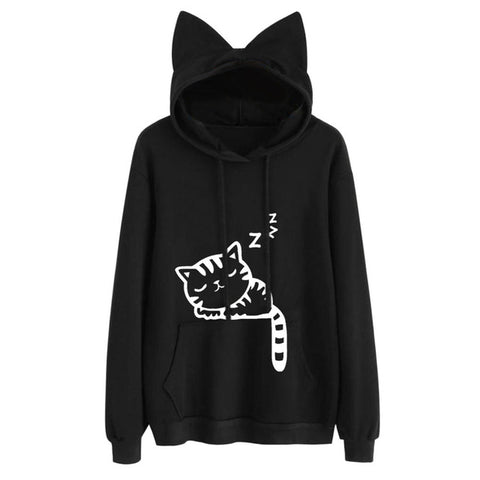 Cat Hoodies With Ears - Fashion Cat Design