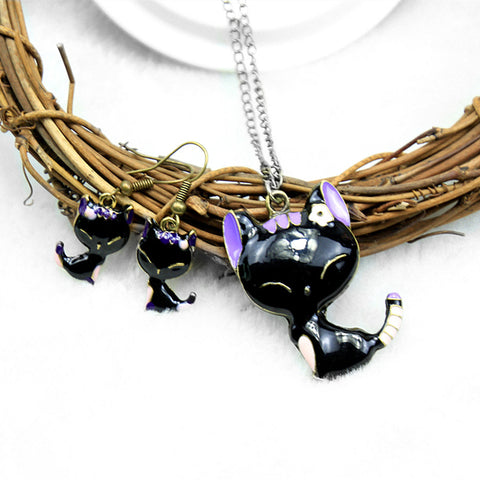 Funny Cat </br>Jewelry Set - Fashion Cat Design