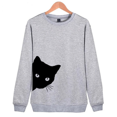 Black Cat Pullovers gray