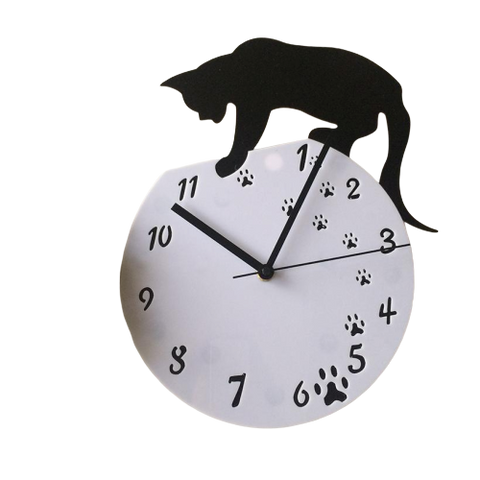 Black Cat  Wall Clock - Fashion Cat Design