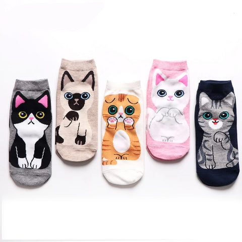 Cat Sock Pattern - Fashion Cat Design