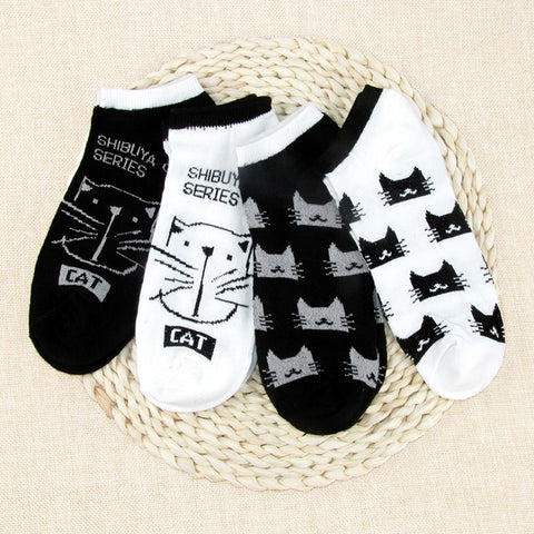 Cat Design Socks - Fashion Cat Design