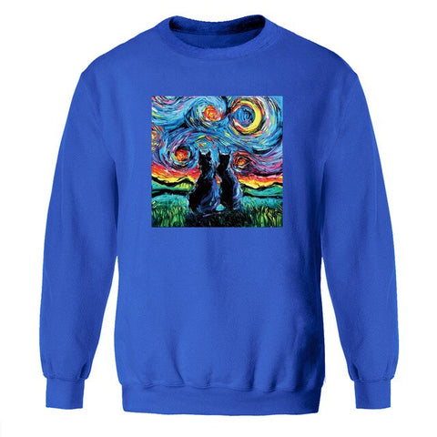 Cat The Starry Night Sweatshirt