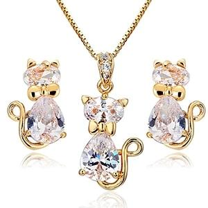 Sparkly Cat</br> Jewelry Set - Fashion Cat Design