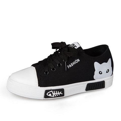 Cat Face Sneakers - Fashion Cat Design